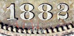 1882 Ngc Pr64 + 1100 Mintage 4.400 Proof Assis Liberté Demi-dollar # 2 Key 50c
