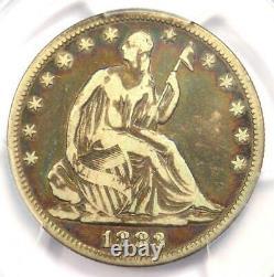 1883 Seated Liberty Half Dollar 50c Certifié Pcgs F12 Rare Date Coin