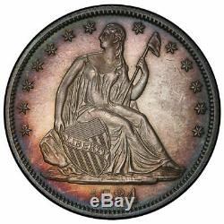 1884 50c Liberté Assis Demi Dollar Pcgs Pr64