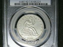 1884 Seated Liberty Half Dollar // Pcgs Proof Pr // Véritable // Unc Details