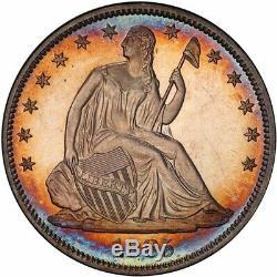 1885 50c Liberté Assis Half Dollar Pcgs Pr64 + Cam Cac