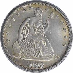 1888 Liberty Seated Argent Demi-dollar Ms64 Pcgs