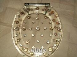 1964-lucite-toilet Seat-half Dollars-quarters-dimes-90%-silver-coin-money-scrap