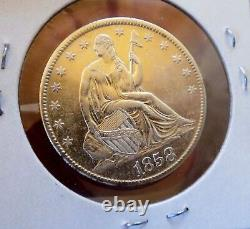 Assis Liberty Half 1858 O Ch Unc Pl Ultra Rare Frosty Luster Dmpl Rev Wow Coin
