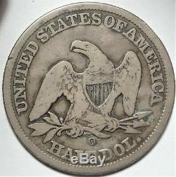 C E Horns Albany Milk Depot Counterstamp Sur 1855-o Liberté Seated Half Dollar