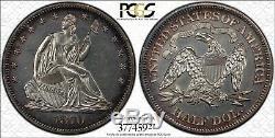 C11851- 1870 Preuve Assis Liberté Demi-dollar Gpc Pr61 1000 Minted