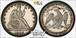 C12616- 1882 Preuve Assis Liberté Demi-dollar Gpc Pr62 Cameo Cac Couleur Magnifique