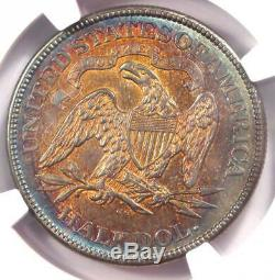 Flèches 1874-cc Assis Liberté Demi-dollar 50c Coin Certifié Ngc Au Détails