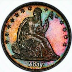 Look @ This 1867 Pf63 Sièged Liberty Half Dollar Proof / Pop 39. Wow Coin