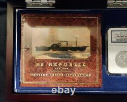 Naufrage De La République Ss 1859 O Rare 9 In Border Seated Liberty Half Dollar