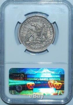 Ngc 1853 Au50 Flèches Et Rays Liberté Assis Demi-dollar