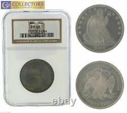 Principales Dates 1886 Sièges Liberty Argent Demi 50c Dollar Ngc Pf Pr 66 Pièce De Preuve