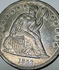 Rare 1795 Cours De Cheveux Qui Coulent - 1842 Assis Liberty Silver One Dollar Coins