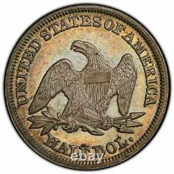 Rare 1849 Assis Liberty Half Dollar Wb-9 Doubled Date Pcgs Au58 Tonique