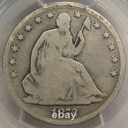Scarce (seulement 257k Haché) Orig. 1872 CC Seated Liberty Half Dollar Pcgs Bon 06