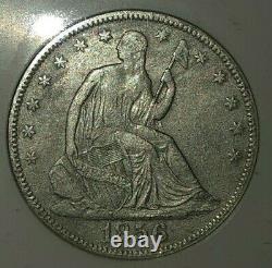 Ss Republic 1856 O Effet Naufrage Liberty Assis Demi-dollar