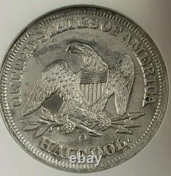 Ss République 1855 O Flèches Effet De Naufrage Liberté Assise Demi-dollar